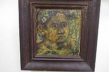 Misran DS ( 1929-2003) Balinese Oil on canvas.