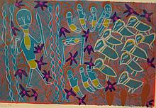 Barrupu Yunupingu Ganbulabula Screenprint. 70 x 48