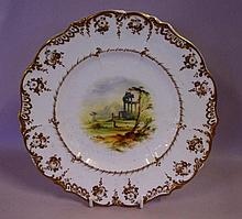 Antique English handpainted cabinet plate 23.5cm