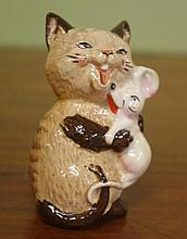 Beswick Cat with mouse figure