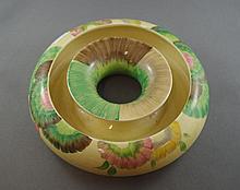 Clarice Cliff 'Bizarre' trough vase