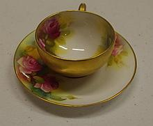 Royal Worcester miniature cup and saucer