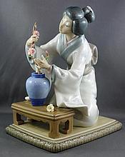 Lladro Japanese flower arranger figurine 19.5cm