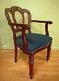 Reproduction mahogany carver chair Admiralty back,