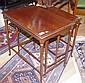 Mahogany nest of three tables