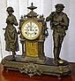 Antique Ansonia mantle clock in figural spelter