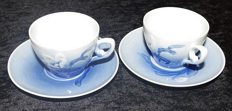 Two B&G; cups and saucers