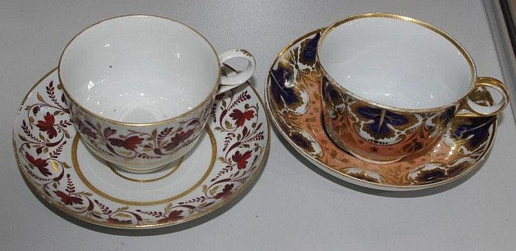 Two Barr Worcester cups and saucers (Hybrid hard