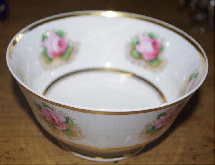 Antique Spode slops bowl, C:1820 bone china hand