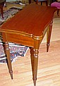 Antique style card table with fold over swivel top