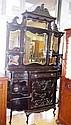 Edwardian ebonised rosewood chiffonier ornately