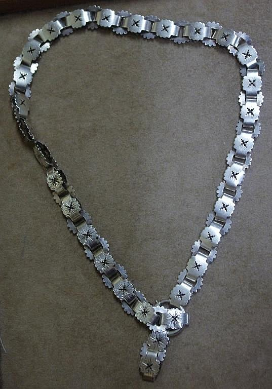 Continental silver necklace