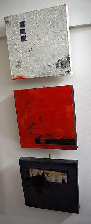 Keren Seelander (b.1957), 3 mixed media on canvas