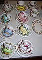 Eight Royal Albert trios together with 4 other