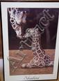 Sharni framed Giraffe photo Image size approx 75cm