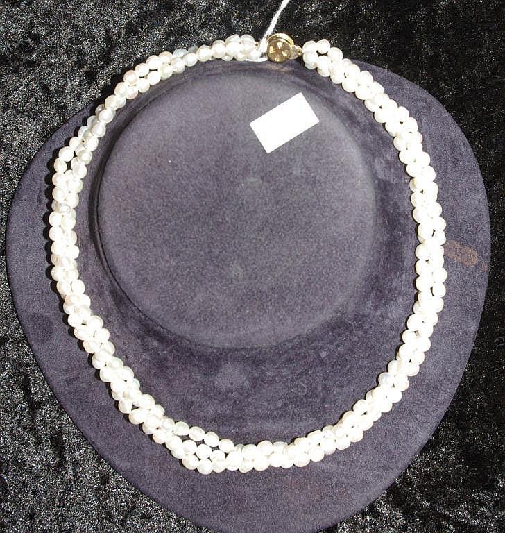Multi strand pearl necklace 40cm approx