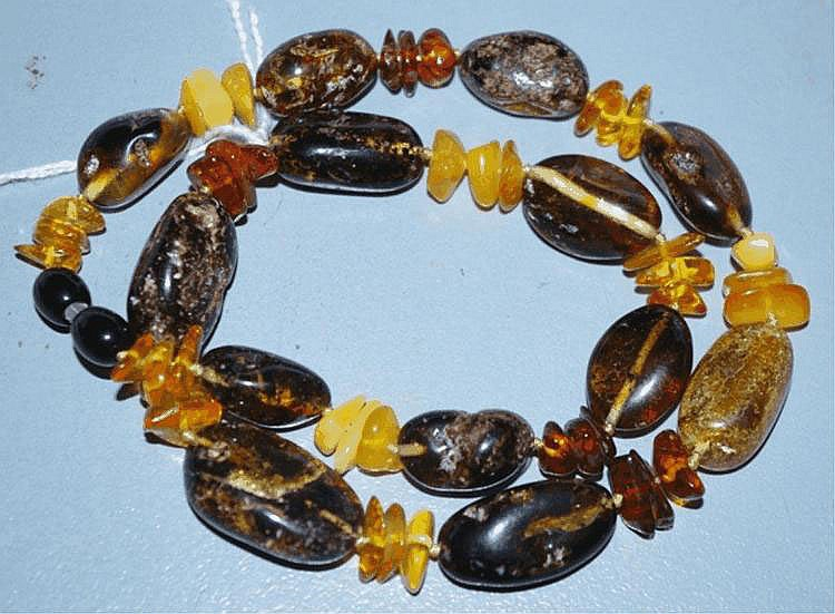 Amber necklace with various different ambers