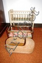 Three vintage doll cots