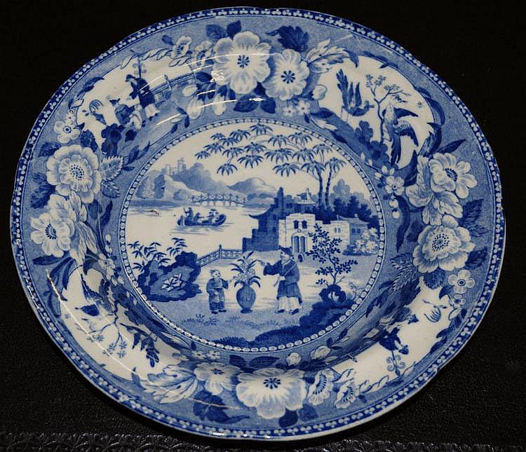 Staffordshire Pearlware soup bowl approx diameter