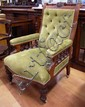 Victorian armchair 67cm wide, 104cm high