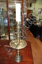 Large brass candle stick 65cm high