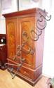 Victorian Australian cedar wardrobe 2 doors above
