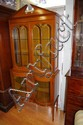 Vintage walnut 2 height china cabinet top section
