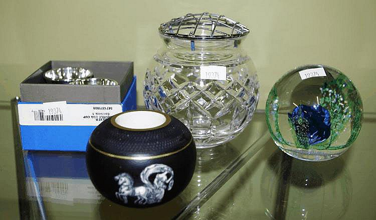 Waterford crystal vase 12cm high, Scottish