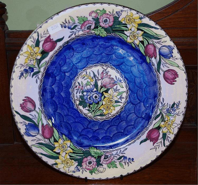 Lustre Maling cabinet plate hand painted with