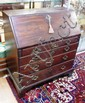 Georgian mahogany bureau desk with fitted interior