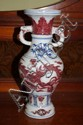 Chinese porcelain baluster vase with underglaze