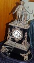 Large French 8 day chiming mantle clock Vincenti &