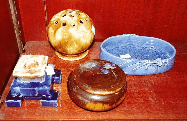Three vintage Australian pottery items & 1 other