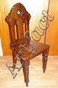 Edwardian cathedral chair of small proportions,