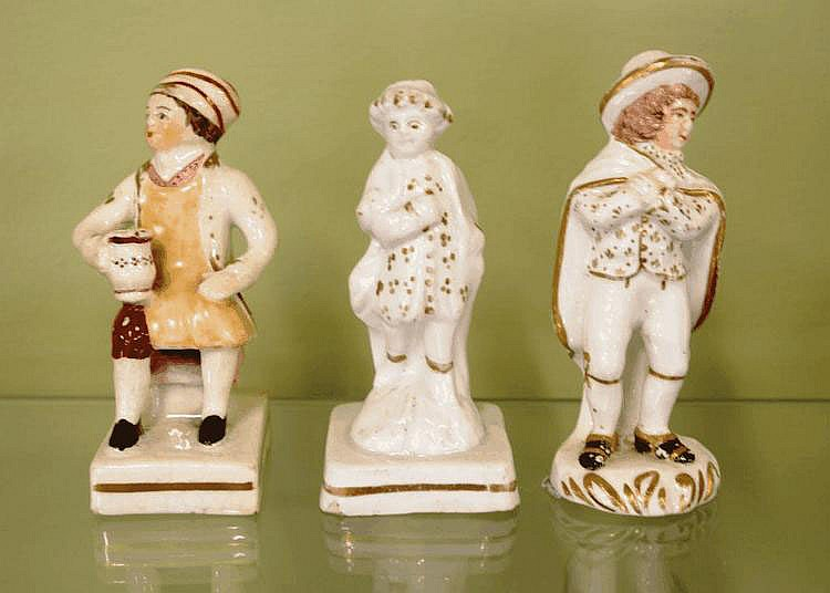 Three porcelain figures circa 1860 9 - 10cm high
