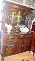 Edwardian mahogany sideboard mirrored back