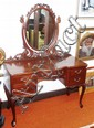 Queen Anne style cedar dressing table with oval