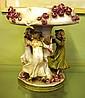 Antique Austrian figural comport floral encrusted