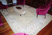 Large Indian hand made wool rug 3.5m x 2.7m approx