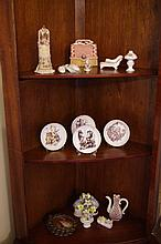 Contents of corner cabinet including Hummel dishes