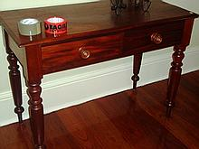 Mahogany side table with two drawers