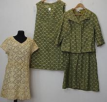 Green 3 piece broderie anglaise silk 3 piece suit