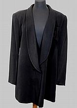 Black Christian Dior smoking jacket with rolled