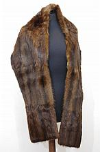 Brown mink stole satin lined,