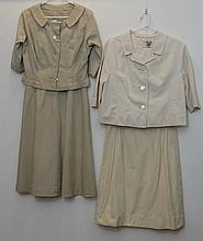 Two vintage suits to include 1 three piece pale