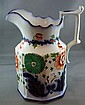 Large Gaudy Welsh pottery jug 20cm high. Early