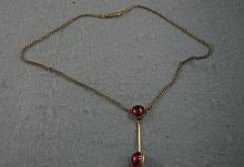 9ct yellow gold and paste necklace approx 9.7