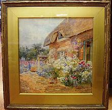 Mary Barton, English watercolour Country house