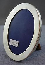Vintage Sterling silver oval photo frame marked