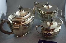 George V hallmarked silver teaset comprising